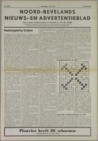 Noord-Bevelands Nieuws- en advertentieblad 1971-07-01