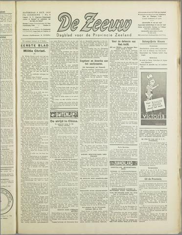 De Zeeuw. Christelijk-historisch nieuwsblad voor Zeeland 1937-10-09