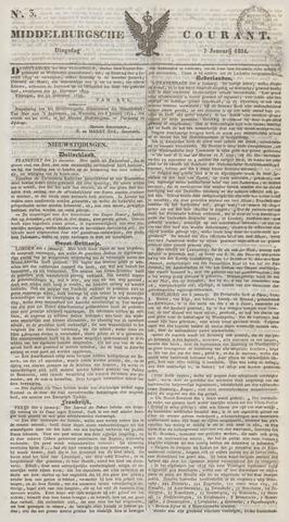 Middelburgsche Courant 1834-01-07