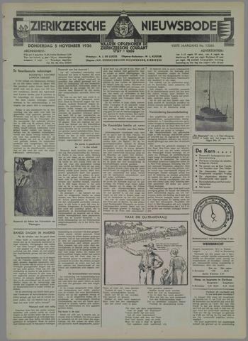 Zierikzeesche Nieuwsbode 1936-11-05