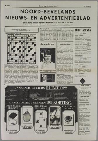 Noord-Bevelands Nieuws- en advertentieblad 1985-10-10