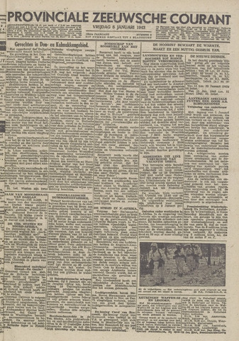 Provinciale Zeeuwse Courant 1943-01-08
