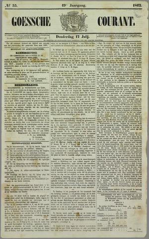 Goessche Courant 1862-07-17