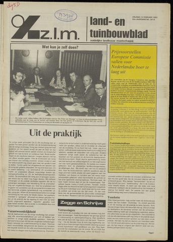 Zeeuwsch landbouwblad ... ZLM land- en tuinbouwblad 1982-02-12