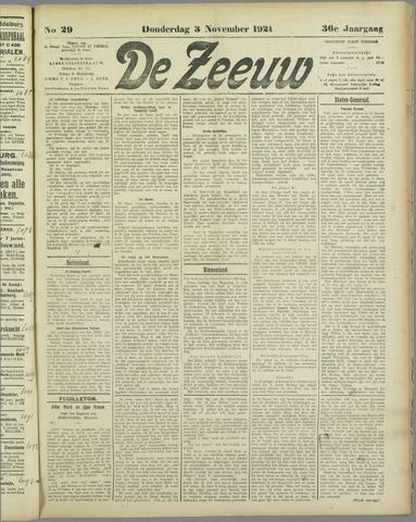 De Zeeuw. Christelijk-historisch nieuwsblad voor Zeeland 1921-11-03