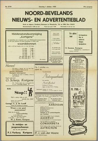Noord-Bevelands Nieuws- en advertentieblad 1955-10-01