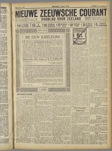 Nieuwe Zeeuwsche Courant 1922-04-03