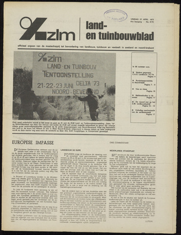 Zeeuwsch landbouwblad ... ZLM land- en tuinbouwblad 1973-04-27