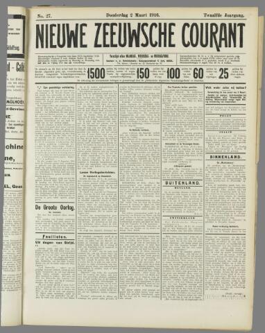 Nieuwe Zeeuwsche Courant 1916-03-02
