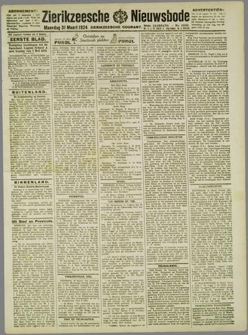 Zierikzeesche Nieuwsbode 1924-03-31