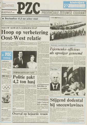 Provinciale Zeeuwse Courant 1984-02-13