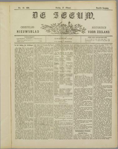 De Zeeuw. Christelijk-historisch nieuwsblad voor Zeeland 1898-02-22