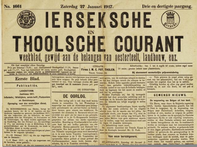 Ierseksche en Thoolsche Courant 1917-01-27