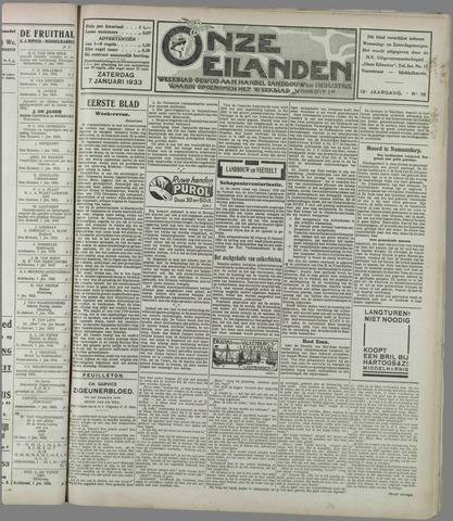 Onze Eilanden 1933