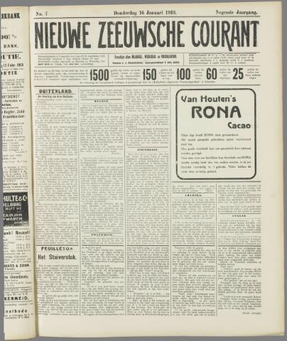 Nieuwe Zeeuwsche Courant 1913-01-16