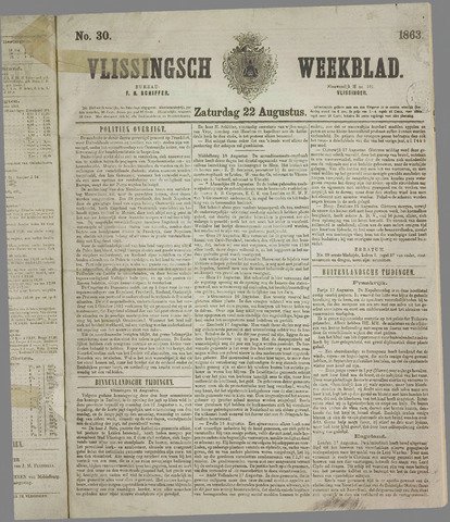 Vlissings Weekblad 1863-08-22