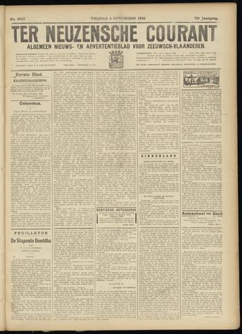 Ter Neuzensche Courant. Algemeen Nieuws- en Advertentieblad voor Zeeuwsch-Vlaanderen / Neuzensche Courant ... (idem) / (Algemeen) nieuws en advertentieblad voor Zeeuwsch-Vlaanderen 1932-11-04