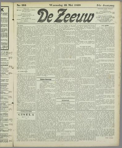 De Zeeuw. Christelijk-historisch nieuwsblad voor Zeeland 1920-05-19