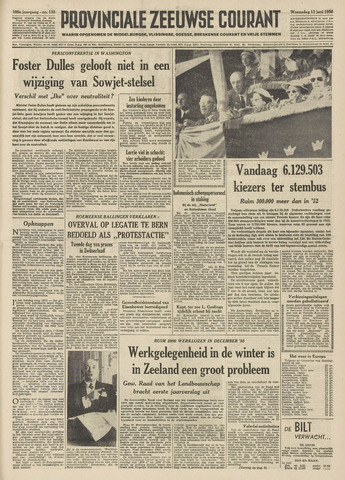 Provinciale Zeeuwse Courant 1956-06-13