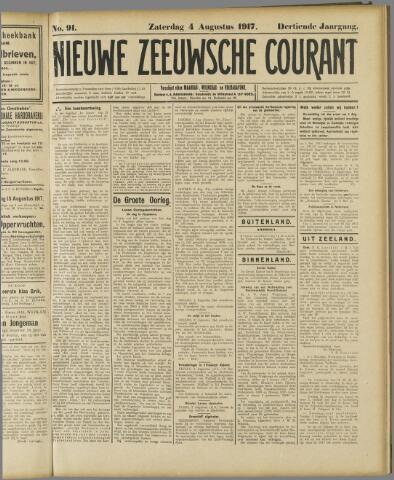Nieuwe Zeeuwsche Courant 1917-08-04