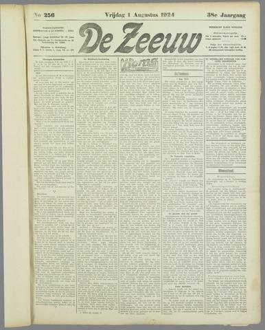 De Zeeuw. Christelijk-historisch nieuwsblad voor Zeeland 1924-08-01