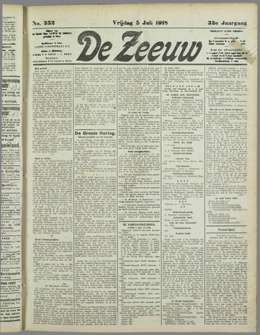 De Zeeuw. Christelijk-historisch nieuwsblad voor Zeeland 1918-07-05