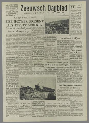 Zeeuwsch Dagblad 1958-08-13