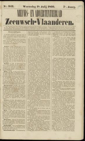 Ter Neuzensche Courant. Algemeen Nieuws- en Advertentieblad voor Zeeuwsch-Vlaanderen / Neuzensche Courant ... (idem) / (Algemeen) nieuws en advertentieblad voor Zeeuwsch-Vlaanderen 1860-07-18