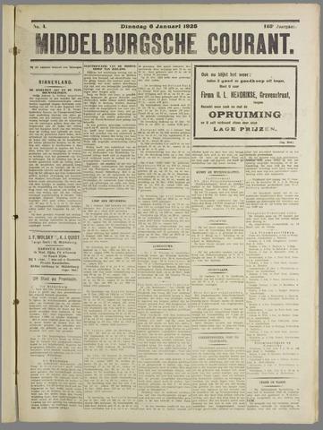 Middelburgsche Courant 1925-01-06