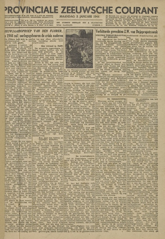 Provinciale Zeeuwse Courant 1944-01-03