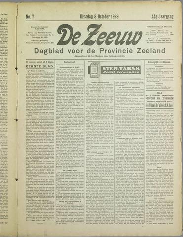 De Zeeuw. Christelijk-historisch nieuwsblad voor Zeeland 1929-10-08