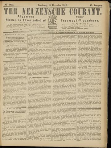 Ter Neuzensche Courant. Algemeen Nieuws- en Advertentieblad voor Zeeuwsch-Vlaanderen / Neuzensche Courant ... (idem) / (Algemeen) nieuws en advertentieblad voor Zeeuwsch-Vlaanderen 1912-12-19