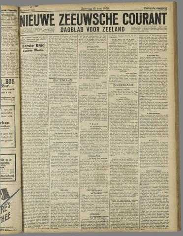 Nieuwe Zeeuwsche Courant 1920-06-19