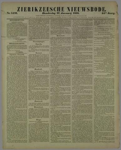 Zierikzeesche Nieuwsbode 1888-01-19