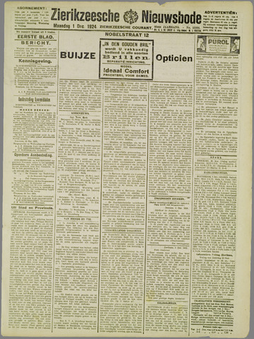 Zierikzeesche Nieuwsbode 1924-12-01