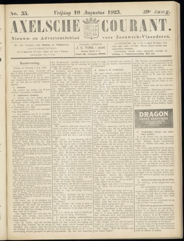 Axelsche Courant 1923-08-10