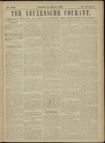 Ter Neuzensche Courant. Algemeen Nieuws- en Advertentieblad voor Zeeuwsch-Vlaanderen / Neuzensche Courant ... (idem) / (Algemeen) nieuws en advertentieblad voor Zeeuwsch-Vlaanderen 1920-01-13