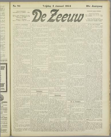 De Zeeuw. Christelijk-historisch nieuwsblad voor Zeeland 1924-01-04