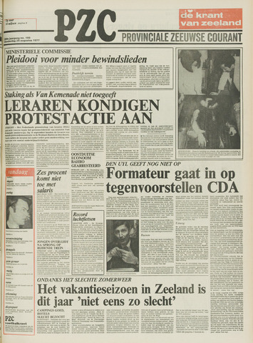 Provinciale Zeeuwse Courant 1977-08-25