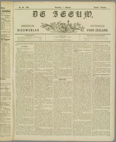 De Zeeuw. Christelijk-historisch nieuwsblad voor Zeeland 1895-08-01