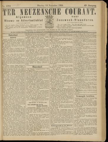 Ter Neuzensche Courant. Algemeen Nieuws- en Advertentieblad voor Zeeuwsch-Vlaanderen / Neuzensche Courant ... (idem) / (Algemeen) nieuws en advertentieblad voor Zeeuwsch-Vlaanderen 1905-11-14