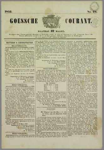 Goessche Courant 1852-03-22