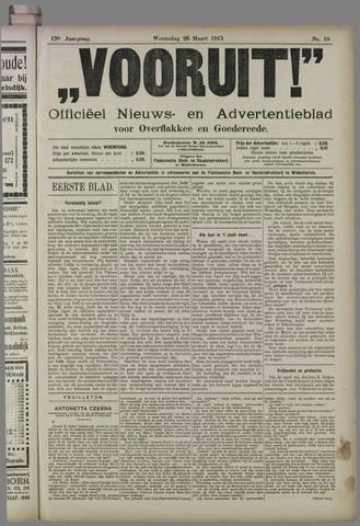 """""""Vooruit!""""Officieel Nieuws- en Advertentieblad voor Overflakkee en Goedereede 1913-03-26"""