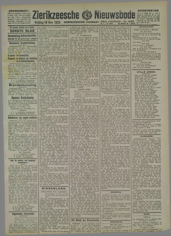 Zierikzeesche Nieuwsbode 1932-11-18