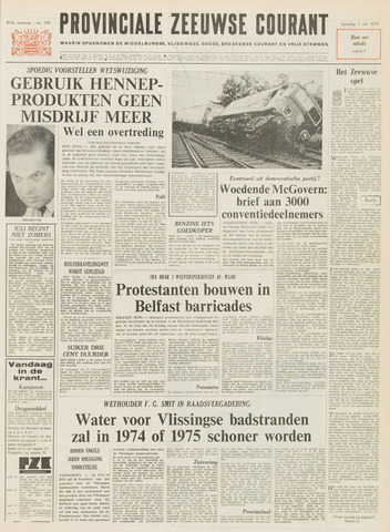 Provinciale Zeeuwse Courant 1972-07-01