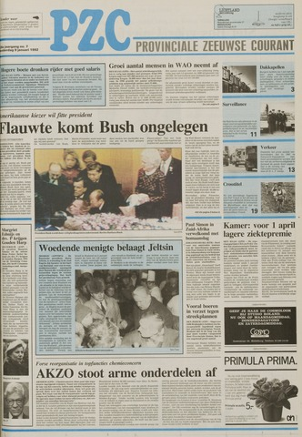 Provinciale Zeeuwse Courant 1992-01-09