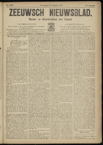 Ter Neuzensch Volksblad. Vrijzinnig nieuws- en advertentieblad voor Zeeuwsch- Vlaanderen / Zeeuwsch Nieuwsblad. Nieuws- en advertentieblad voor Zeeland 1918-08-28