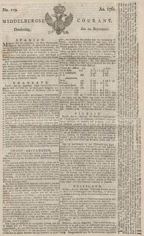 Middelburgsche Courant 1761-09-10