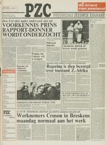Provinciale Zeeuwse Courant 1976-08-21