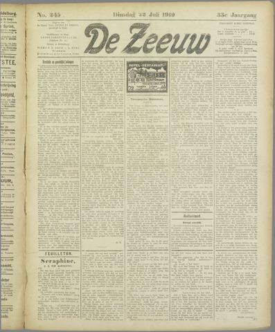 De Zeeuw. Christelijk-historisch nieuwsblad voor Zeeland 1919-07-22